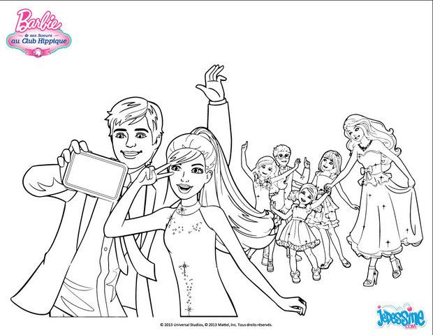 Coloriages s ance photo pendant la f te - Chevaux barbie ...