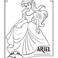 Coloriage Disney : Ariel