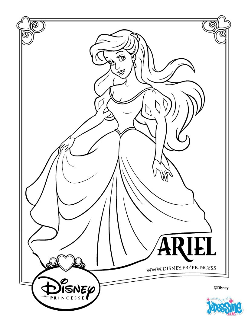 Coloriages ariel - Coloriage disney ...
