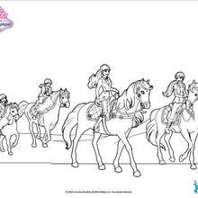 Barbie et ses soeurs en balade à cheval