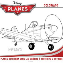 Coloriage : Planes - Dusty