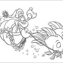Coloriage Disney : Le Char des mers