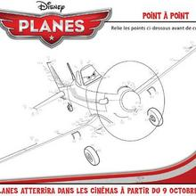 Jeu de points à relier : PLANES, point à point