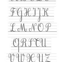Modèle : Les lettres cursives majuscules