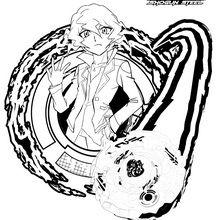 Coloriage : Shinobu et sa toupie