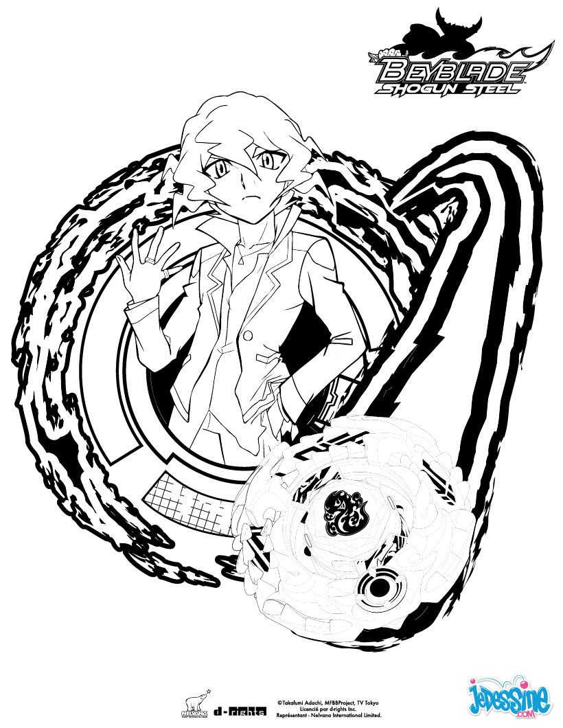 Coloriages shinobu et sa toupie for Beyblade shogun steel coloring pages