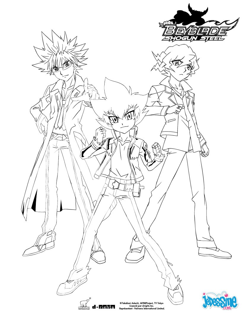 Coloriages groupe beyblade 3 personnages - Dessin beyblade ...