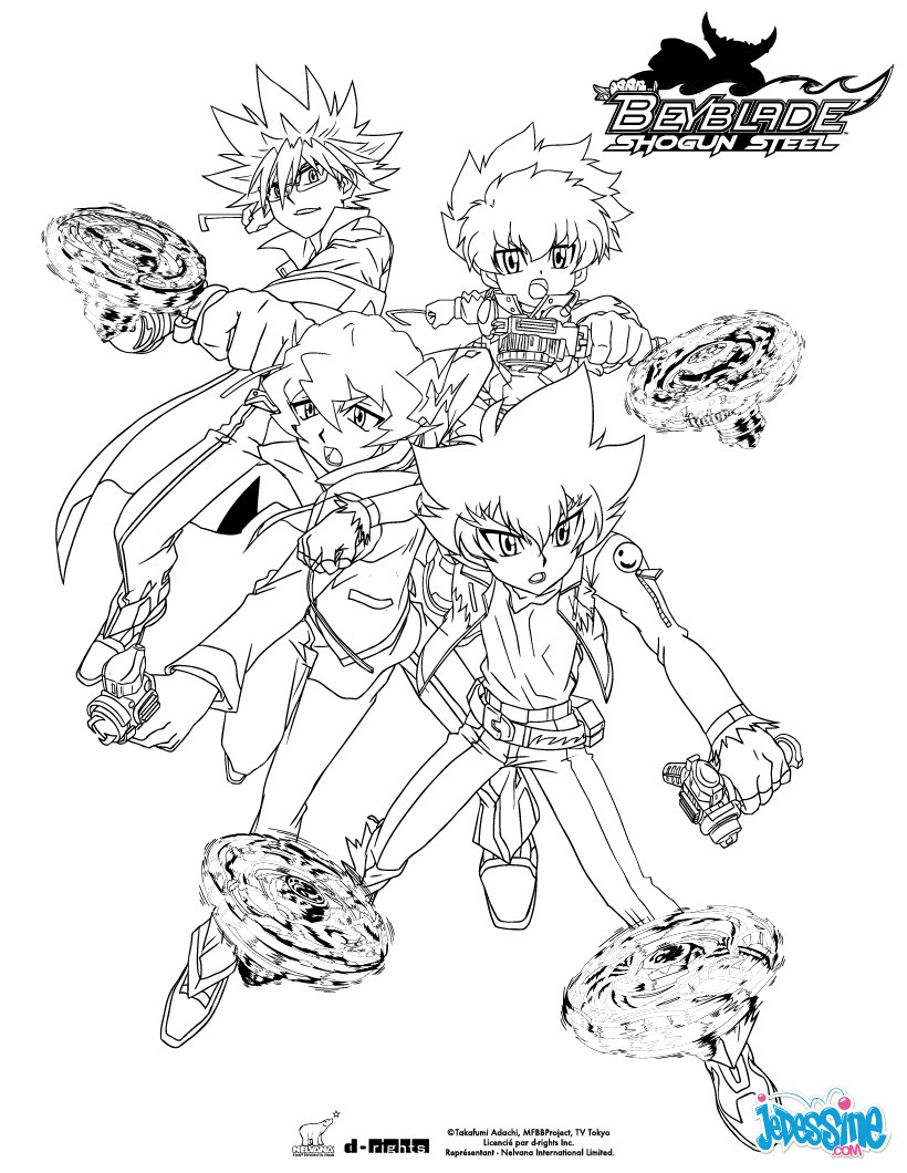Coloriages team beyblade - Dessin beyblade ...