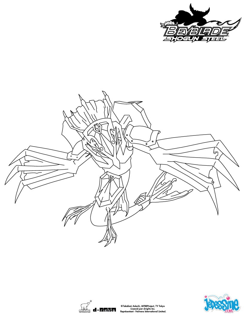 Coloriages guardian leviathan for Beyblade shogun steel coloring pages