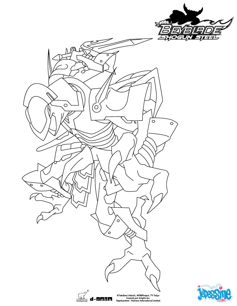 Coloriages ninja salamander for Beyblade shogun steel coloring pages