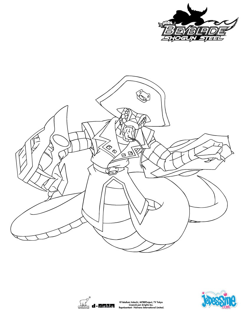 Coloriages pirate orochi for Beyblade shogun steel coloring pages