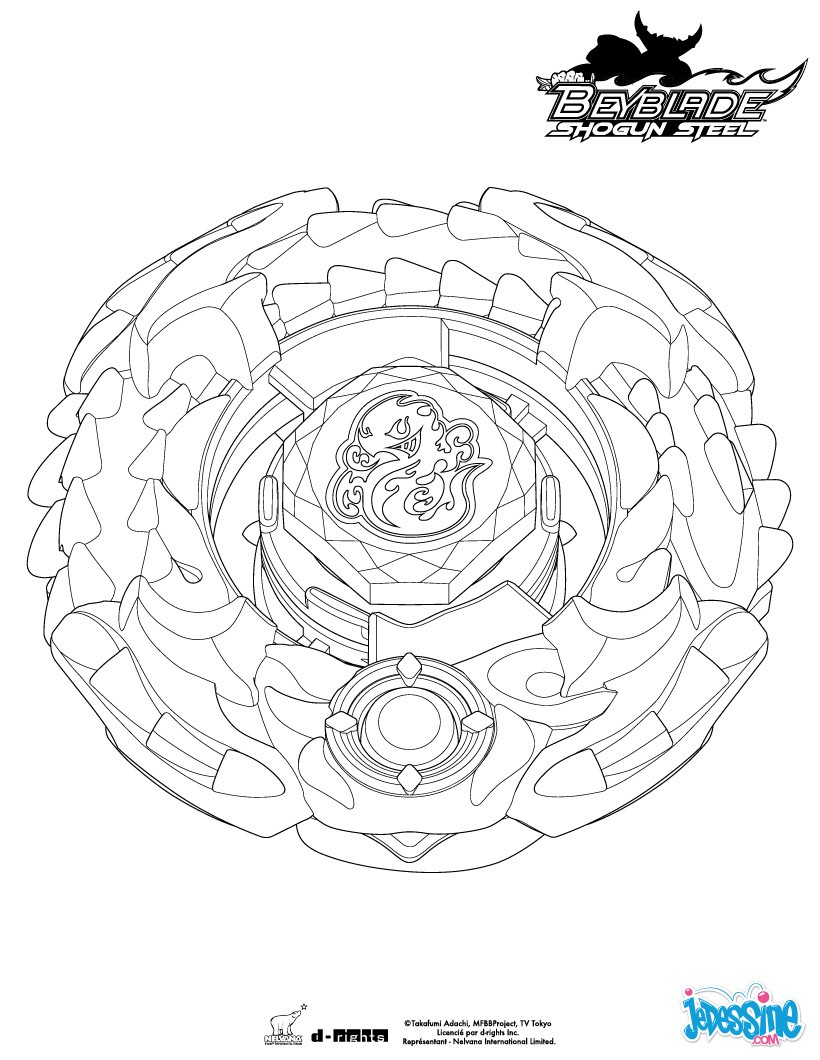 Coloriages salamander for Beyblade shogun steel coloring pages
