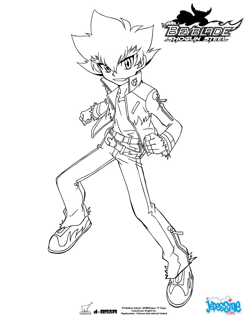 beyblade shogun steel coloring pages coloriages zyro debout