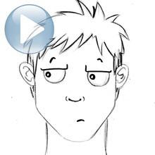 Dessiner une expression du visage : l'indifférence