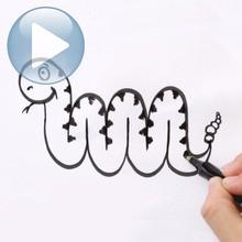 Tuto de dessin : Dessiner un serpent avec la lettre M
