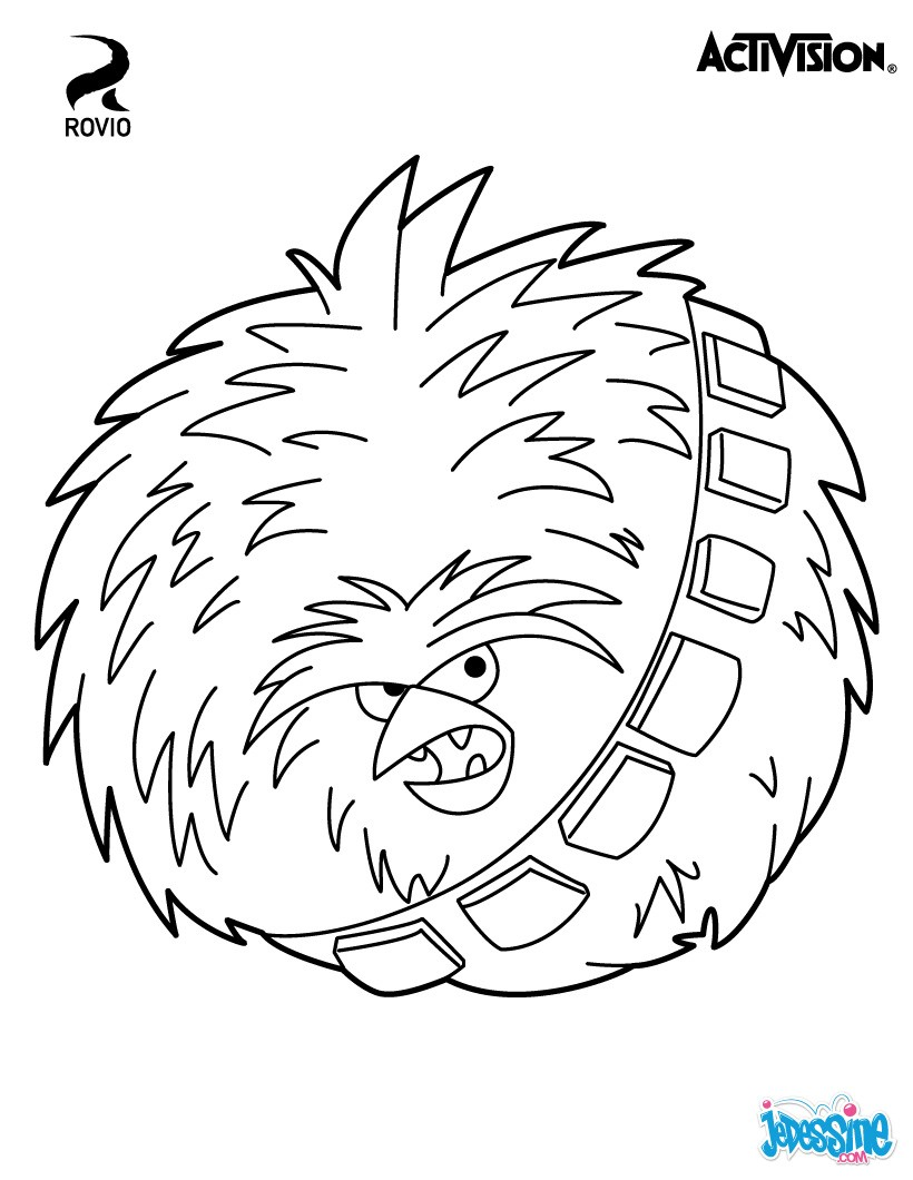 Coloriages chewbacca angry birds star wars fr - Dessin de angry birds star wars ...