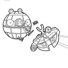 Coloriage : Etoile noire - Angry Birds Star Wars
