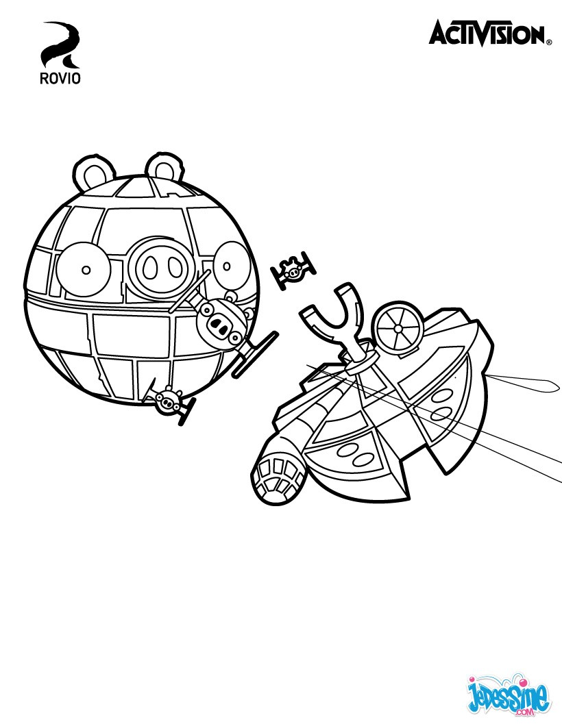 Coloriages etoile noire angry birds star wars - Coloriage angry birds ...