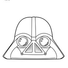 Coloriage : Dark Vador - Angry Birds Star Wars