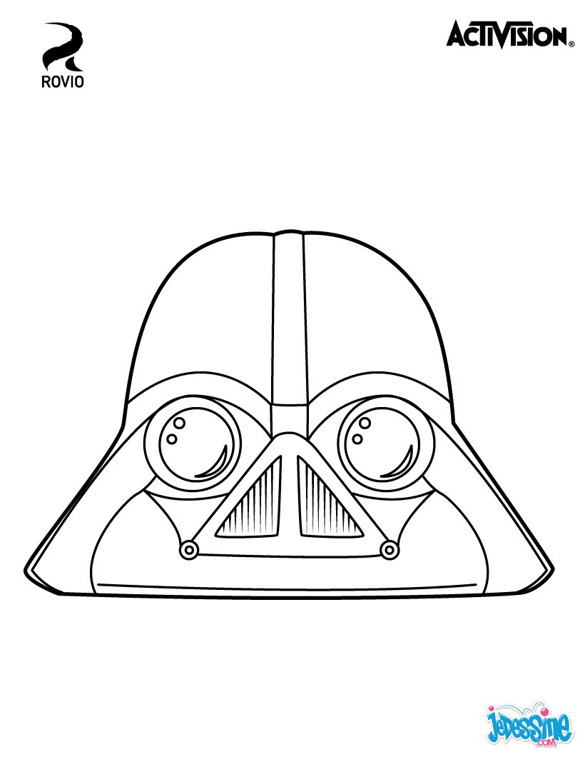Coloriages dark vador angry birds star wars fr - Dessin de angry birds star wars ...