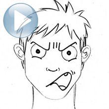 Dessiner une expression du visage : la colère