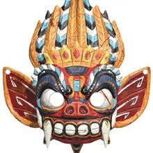 Masque à imprimer : Masque de Dragon - Le Manoir Magique
