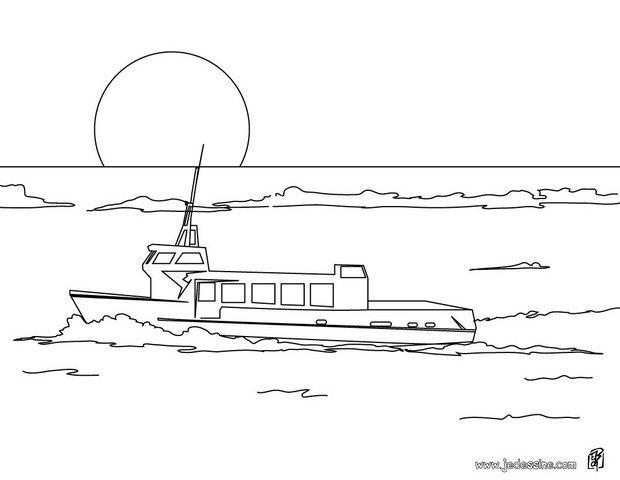 Coloriages coloriage d 39 un bateau de croisi re fr - Dessin d un bateau ...