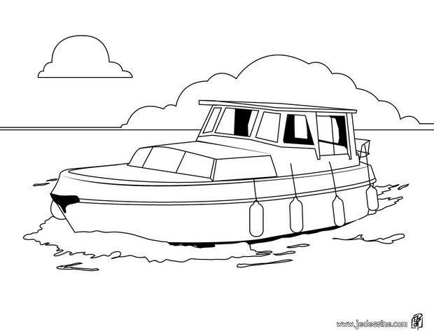 Coloriages coloriage d 39 un bateau de promenade - Dessin bateau enfant ...