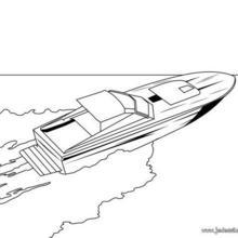 Coloriage d'un bateau à grande vitesse