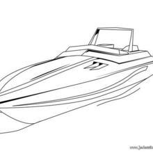 Coloriage d'un bateau à moteur