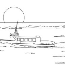 Coloriage d'un bateau de croisière