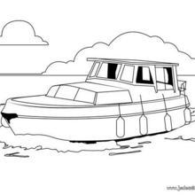 Coloriage d'un bateau de promenade