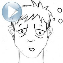 Dessiner une expression du visage : la fatigue