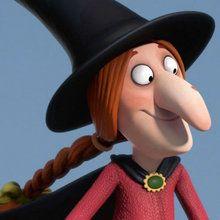 Une sorcière d'Halloween dans les airs !