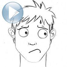 Dessiner une expression du visage : l'inquiétude