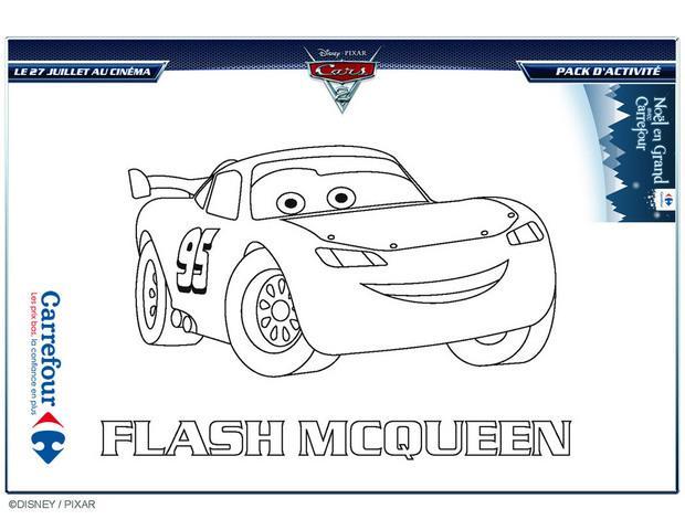 Coloriages cars 2 flash mcqueen pour un no l en grand avec - Jeux de flash mcqueen coloriage ...