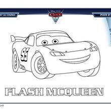 Coloriages cars 2 flash mcqueen pour un no l en grand avec carrefour - Coloriage flash mcqueen en ligne ...
