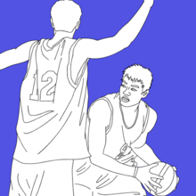 sport, Coloriage BASKETBALL