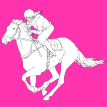 Cheval, Coloriage EQUITATION