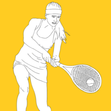 sport, Coloriage TENNIS