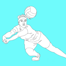 sport, Coloriage VOLLEYBALL