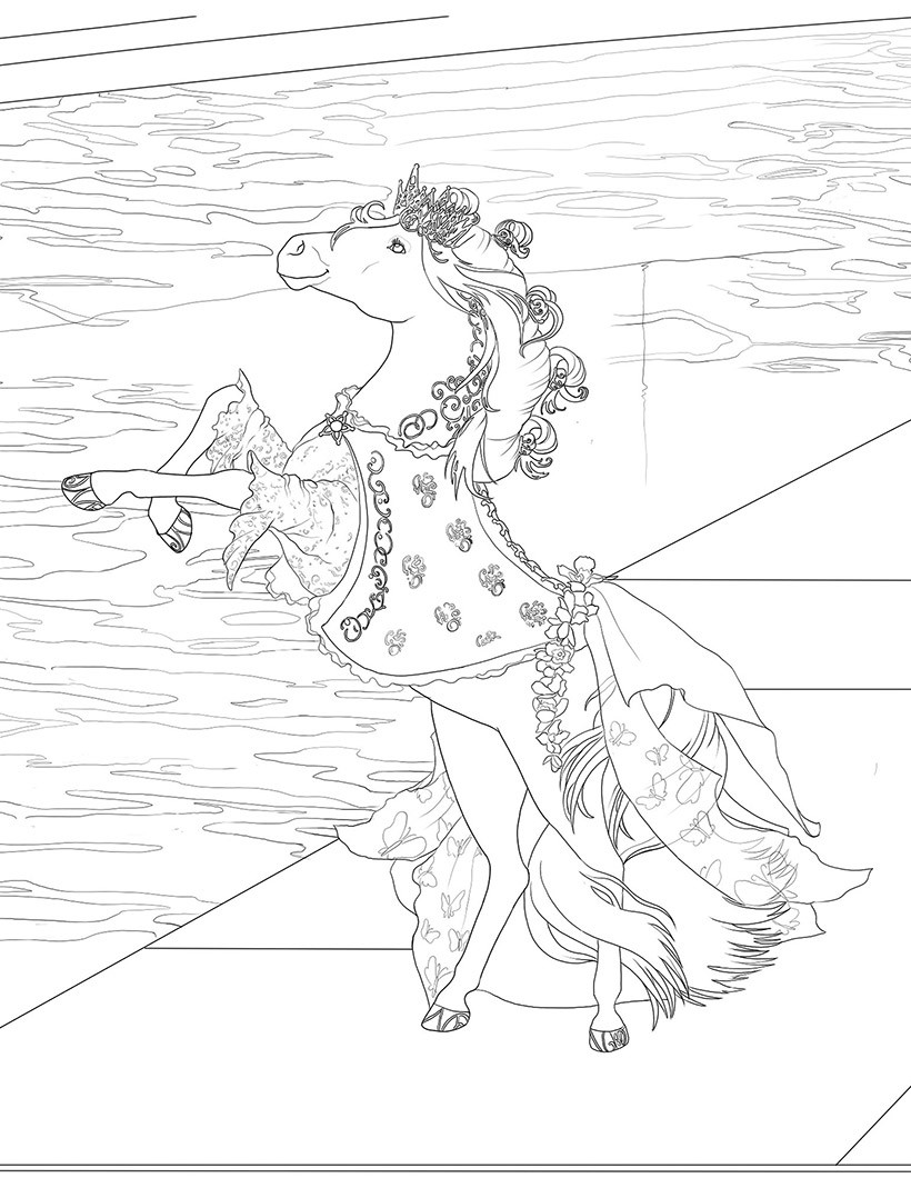 1000 images about adult coloring pages horses on pinterest - Coloriage bella sara ...