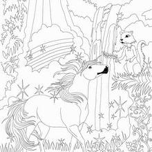 Coloriage : Bella Sara, à la rencontre des écureuils