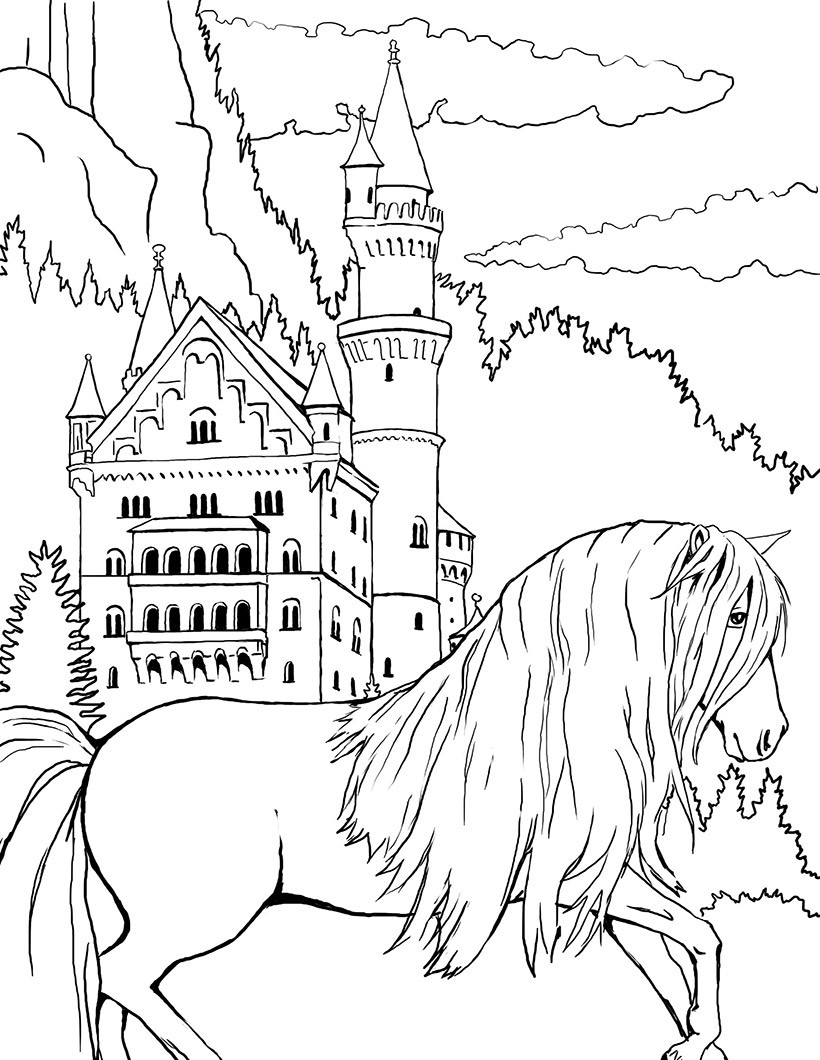 1000 Images About Adult Coloring Pages Horses On Pinterest