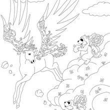 Coloriage : Bella Sara, Wings et l'écureuil