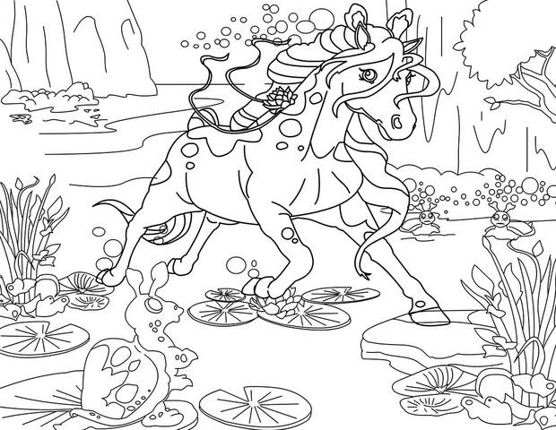 Coloriages ondine de bella sara - Coloriage cheval et poulain ...