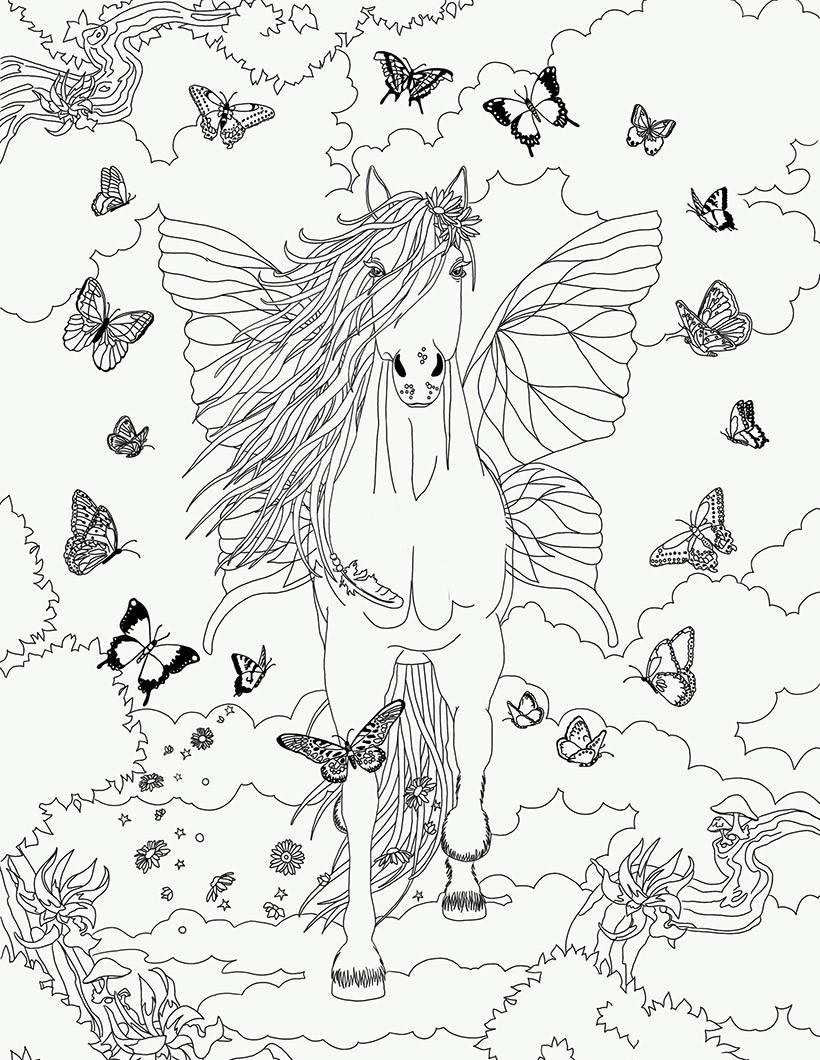 Coloriages butterfly dans bella sara - Coloriage bella sara ...