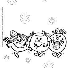 Coloriage : Les Monsieur Madame à Noël
