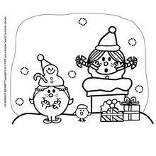 Coloriage : Madame Princesse souhaite un Joyeux Noel