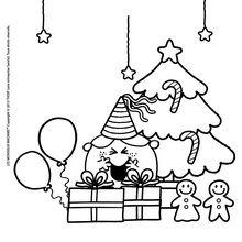Coloriage : Les confiseries de Noel